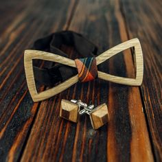 1ca97fa4998c Wooden Bow Tie Handmade Cuff link Set Wood Bow Tie Bow For Men Wood Bowtie #