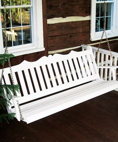Love this White Yellow Pine Royal English Swing by A&L Furniture on #zulily! #zulilyfinds