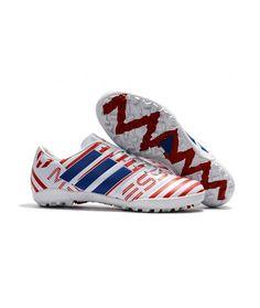 save off bbafe d013e Adidas Messi Nemeziz 17.1 TF Suola Per Erba Sintetica Scarpe Da Calcio  Bianco Rosso Blu