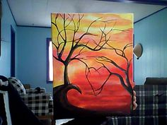 Abstract Tree Paintings | abstract tree heart painting by LindseyPretzer