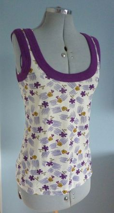 S12/14 ATMOSPHERE Retro 70s Vintage Style Vest Top #1970s