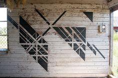 Geometric walls painted 5