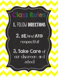 What Happens in First Grade: FREE class rules poster