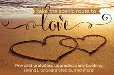 Take the scenic route to love with pre-paid gratuities, upgrades, onboard credits and more with Norwegian Cruise Line, Royal Caribbean, Carnival, Avalon Waterways, Regent Seven Seas and more. #CruisePlanners