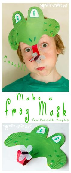Make a curly tongued, fly catching Paper Plate Frog Mask, perfect for Spring and Summer frog craft and play activity for kids. Paper Plate Art, Paper Plate Crafts, Paper Plates, Mardi Gras, Preschool Crafts, Crafts For Kids, Diy Image, Frog Mask, Frog Crafts