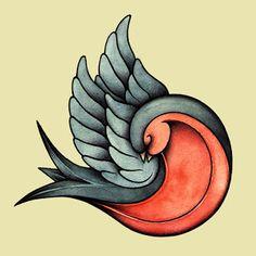 Old School Color Cartoon Swallow Bird Heart Tattoo Designs: Real Photo . Swallow Tattoo Design, Swallow Bird Tattoos, Red Bird Tattoos, Tattoo Bird, Tattoo Roses, Bird Tattoo Meaning, Tattoos With Meaning, Trendy Tattoos, New Tattoos