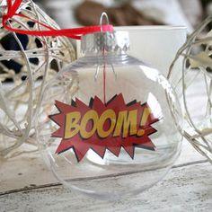 Comic Book Bauble, Boom Boomble - tree decorations