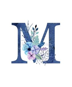 Monogram M Icy Winter Bouquet by floralmonogram z alphabet 'Monogram M Icy Winter Bouquet' by floralmonogram M Letter Design, Monogram Design, Lettering Design, Flower Alphabet, Alphabet Art, Letter Art, Monogram Wallpaper, Alphabet Wallpaper, Floral Letters