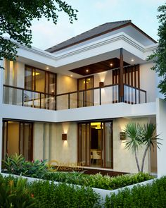 Trendy home architecture exterior indian Ideas Modern Exterior House Designs, Dream House Exterior, Modern House Design, House Front Design, Small House Design, Dream Home Design, Modern Tropical House, Tropical House Design, Tropical Houses