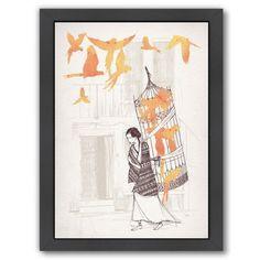 "East Urban Home 'Frida' Print Size: 25"" H x 19"" W, Format: Black Framed"