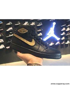 best service 82dde 1256a Air Jordan 1 Retro High OG BHM BlackMetallic Gold Retro Basketball Shoes,  Nike