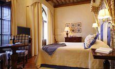 Luxury room in a castle at Castello Banfi il Borgo Tuscany Italy