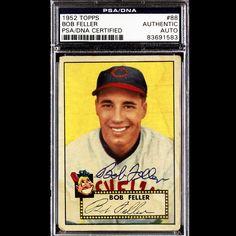 Bob Feller 1952 Topps Signed Autographed Auto Vintage PSA DNA 83691583 | eBay #bobfeller #feller #1952 #topps #signedcard #autograph #vintage