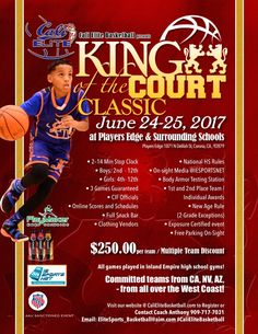 The AAU Sactioned King Of Court Classic Is Located In Los Angeles West Region An Official Member IndiHoops Youth Basketball Tournaments