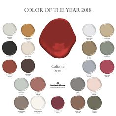 Introducing Caliente AF-290, Benjamin Moore's Red-Hot 2018 Color Of The Year - Luxe Interiors + Design