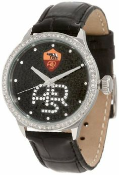 Haurex Italy Women's RF341DNF Grand Class Crystal Watch Haurex. $342.99. Black leather strap with alligator grain. Second hand. Water-resistant to 99 feet (30 M). Push pull crown. Black and silver crystals in dial and silver crystals on bezel