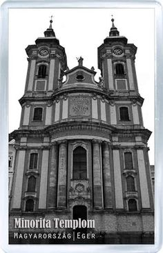 $3.29 - Acrylic Fridge Magnet: Hungary. Eger. Minorite Church