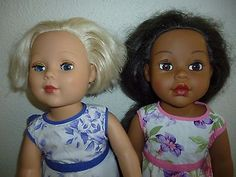 2-MADAME-ALEXANDER-18-dolls-AFRICAN-AMERICAN-BLONDE-clothing