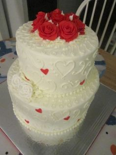 Valentine's Day Cake By kristinaerin on CakeCentral.com