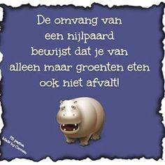 Instagram photo by zzz_dafnuh_zzz - Tja ;) #nijlpaard #afvallen #dieet #groente #humor #flair #omdenken #Quote #text