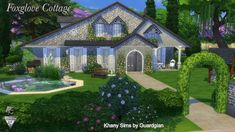"""Khany Sims - """"Foxglove cottage"""" - Sims 4 house"""