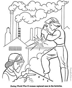 women wwii rosie the riveter military coloring pages american history for kid