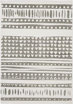 Kodin1 - ANNO Halla matto 140x200cm valko-harmaa | Puuvillamatot