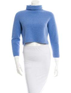 Light Blue The Row Cashmere-Blend Nenette Sweater #WhatToWear #EasterBrunch