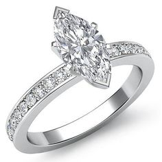 Womens-Classic-Marquise-Diamond-Pave-Engagement-Ring-EGL-F-VS2-Platinum-1-5-ct