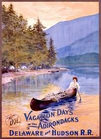 VintageArte - Vacation Days in the Adirondacks : Posters and Framed Art Prints Available