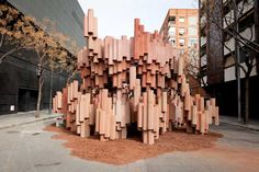 A battle is raging even you're not awared of it - cardboard pavilion for fallas festival by pink intruder David Moreno, Landscape Architecture, Architecture Design, Cardboard Design, Pavilion Design, Installation Art, Event Design, Diy Design, This Is Us