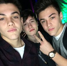 Crawford Collins and the Dolan twins (Ethan and Grayson Dollan)