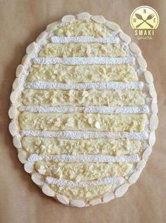 Mazurek z białą czekoladą i migdałami