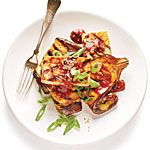 Grilled Eggplant and Tofu Steaks with Sticky Hoisin Glaze Recipe | MyRecipes.com