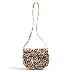 Shoulder Bag in Leopard Calf Hair