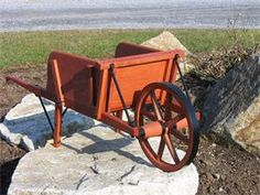 Amish Old Fashioned Wheelbarrow - Small