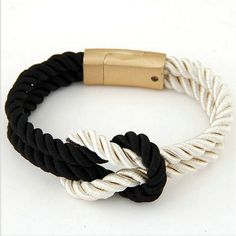 7e09c6c8bc5e 2018 Hot Trendy Fashion Braided Rope Chain with Magnetic Clasp Bow Charm  Leather Bracelets   Bangles for Women Men Jewelry-in Charm Bracelets from  Jewelry ...