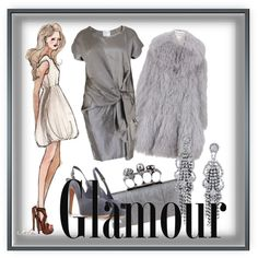 """""""Soft Summer grey can be glamourous!"""" by gracekellyssu on Polyvore"""