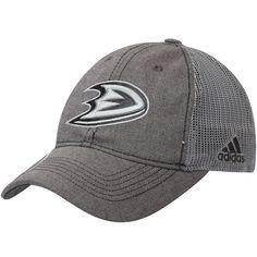 d721ba22aad Men s Anaheim Ducks adidas Gray Travel   Training Slouch Adjustable Hat