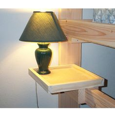 Solid Wood Lamp Shelf Just Image Bunk Bed Beds Shelves