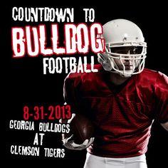 Georgia Football begins 8-31-13! Cheer on your Georgia Bulldogs against the Clemson Tigers!