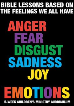 NEW Children's Ministry Curriculum inspired by INSIDE OUT. Emotions 5-Week Children's Ministry Curriculum