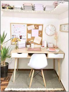 Tips para organizar tu escritorio (Parte II) – Shilla – The Study Room Decor, Cute Room Decor, Room Ideas Bedroom, Bedroom Decor, Attic Bedrooms, Study Rooms, Study Areas, Study Desk, Home Office Design
