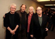 David Crosby, Graham Nash, Stephen Stills and Neil Young at event of CSNY/Déjà Vu (2008)