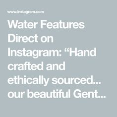 """Water Features Direct on Instagram: """"Hand crafted and ethically sourced... our beautiful Gentong package as seen on #theblock2020 ... #neilwhittaker may not have liked it but…"""" Water Features, Packaging, Crafts, Beautiful, Instagram, Water Sources, Manualidades, Wrapping, Handmade Crafts"""