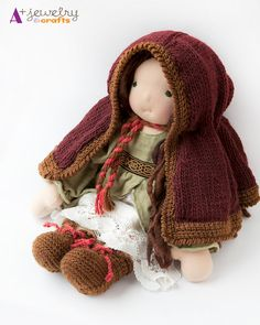 Cape waldorf clothing doll clothes deep red by APlusJewelryCrafts -- love this entire outfit so much