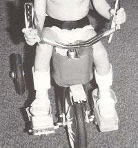 Here are some easy ways to adapt a tricycle at home, check out the pdf with its tips and ideas.