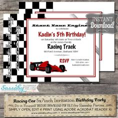 birthday invitations for a 13 year old boy 13th birthday modern for boy red white black y119. Black Bedroom Furniture Sets. Home Design Ideas