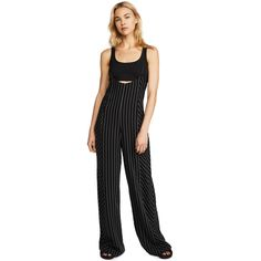 eb4693cc7abf T by Alexander Wang Pintstriped Jumpsuit ( 400) ❤ liked on Polyvore  featuring jumpsuits