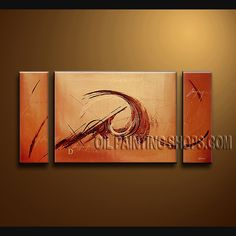 Enchanting Modern Abstract Painting Hand-Painted Art Paintings For Bath Room Abstract. This 3 panels canvas wall art is hand painted by Bo Yi Art Studio, instock - $154. To see more, visit OilPaintingShops.com